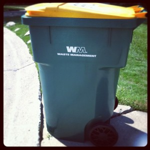 New 96 Gallon Single Stream Recycling Cart