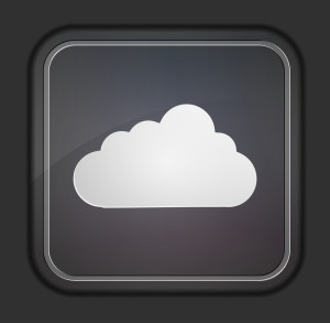 gray cloud icon